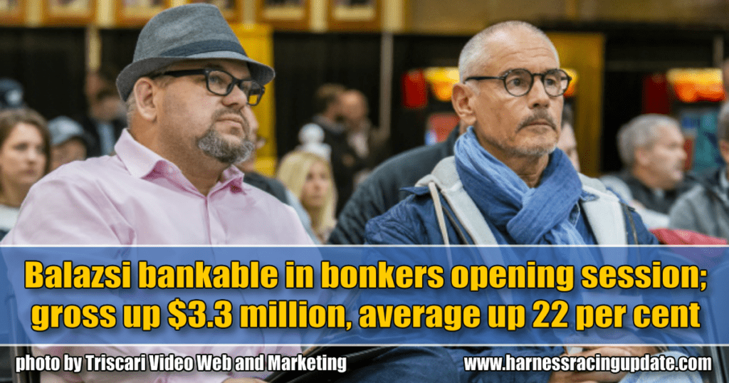 Balazsi bankable in bonkers opening session; gross up $3.3 million, average up 22 per cent